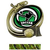 "Hasty 3"" Action Medal Spectrum Soccer Insert"
