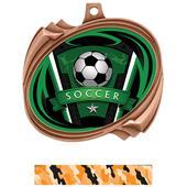 Hasty Hurricane Medal Soccer Varsity Insert