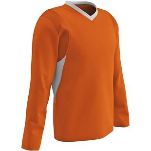 Custom Lacrosse T-Shirt Orange//Black Print-Youth Large