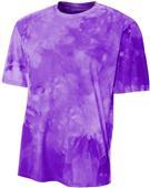 A4 Adult Polyester Cloud Dye Tech Tee Shirt