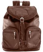 Burk's Bay Leather Computer Backpack
