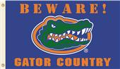 College Florida Beware Gator Country 3'x5' Flag