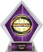 Award Classic Basketball Purple Diamond Ice Trophy
