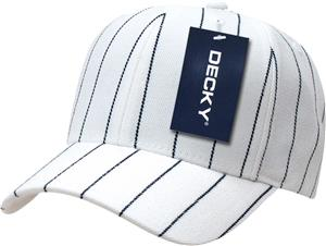 d0ebf94f38906 Decky Pin Striped Adjustable 6-panel Ball Caps - Soccer Equipment and Gear