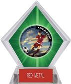 P.R. Female Soccer Green Diamond Ice Trophy