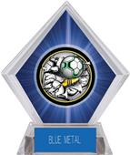 Awards Bust-Out Soccer Blue Diamond Ice Trophy