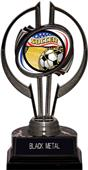"Awards Black Hurricane 7"" Americana Soccer Trophy"