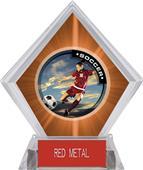 P.R. Female Soccer Orange Diamond Ice Trophy