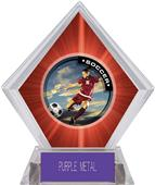 P.R. Female Soccer Red Diamond Ice Trophy