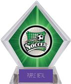 Xtreme Soccer Green Diamond Ice Trophy