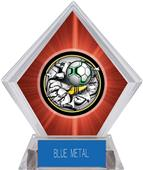 Awards Bust-Out Soccer Red Diamond Ice Trophy