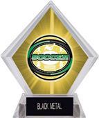 Awards Classic Soccer Yellow Diamond Ice Trophy