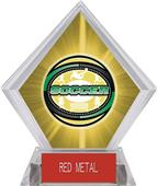 Awards Classic Soccer Yellow Diamond Ice Trophy
