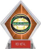 Awards Classic Soccer Orange Diamond Ice Trophy