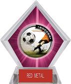 Awards P.R. Male Soccer Pink Diamond Ice Trophy