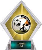 Awards P.R. Male Soccer Yellow Diamond Ice Trophy