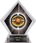 "2"" Saturn Basketball Black Diamond Ice Trophy"