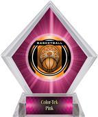 "2"" Legacy Basketball Pink Diamond Ice Trophy"