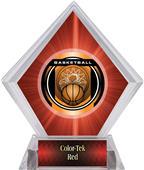 "2"" Legacy Basketball Red Diamond Ice Trophy"