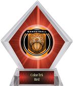"2"" Legacy Basketball Red Diamond Ice Trophy"
