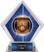 "2"" Legacy Basketball Blue Diamond Ice Trophy"