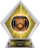 """2"""" Legacy Basketball Yellow Diamond Ice Trophy"""