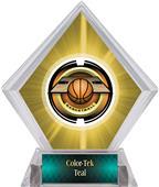 Awards Saturn Basketball Yellow Diamond Ice Trophy