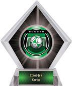 "2"" Legacy Soccer Black Diamond Ice Trophy"