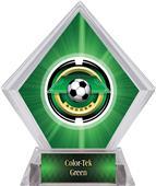 "2"" Saturn Soccer Green Diamond Ice Trophy"