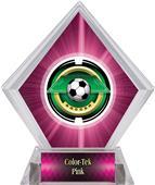 "2"" Saturn Soccer Pink Diamond Ice Trophy"