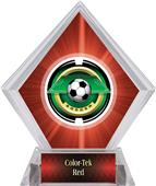 "2"" Saturn Soccer Red Diamond Ice Trophy"
