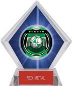 "2"" Legacy Soccer Blue Diamond Ice Trophy"