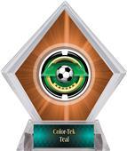 Awards Saturn Soccer Orange Diamond Ice Trophy