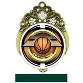 "Hasty 3"" Tiara Medal 2"" Saturn Basketball Mylar"