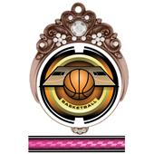 "Hasty 3"" Tiara Medal 2"" Saturn Basketball Mylar"