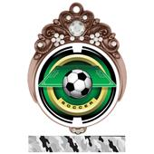 "Hasty Awards 3"" Tiara Medal 2"" Saturn Soccer Mylar"