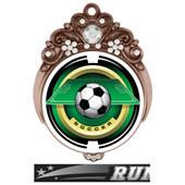 "Hasty Awards 3"" Tiara Medal 2"" Saturn Soccer Mylar"