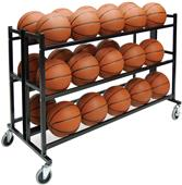 Athletic Specialties Double-Wide Welded Ball Cart