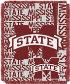 Northwest Mississippi St Double Play Jaquard Throw