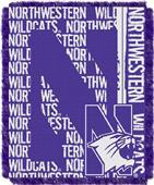 Northwest Northwestern Double Play Jaquard Throw