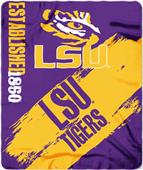Northwest LSU Painted Fleece Throw