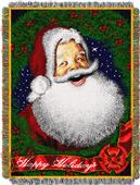 Northwest Howdy Santa Woven Tapestry Throw