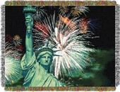 Northwest Lady Liberty Woven Tapestry Throw