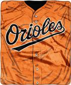 Northwest MLB Orioles Jersey Raschel Throw