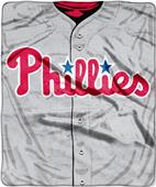 Northwest MLB Phillies Jersey Raschel Throw