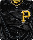 Northwest MLB Pirates Jersey Raschel Throw