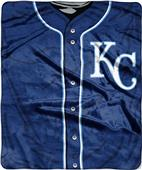 Northwest MLB Royals Jersey Raschel Throw