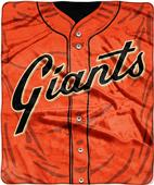 Northwest MLB Giants Jersey Raschel Throw