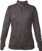 Badger Sport Tonal Blend Ladies 1/4 Zip Pullover