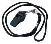Markwort Black Plastic Whistle w/ Lanyard